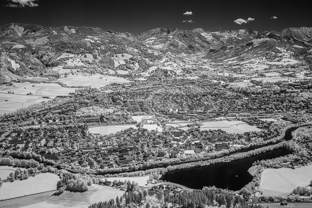 Infrarot-Luftaufnahme im Allgäu